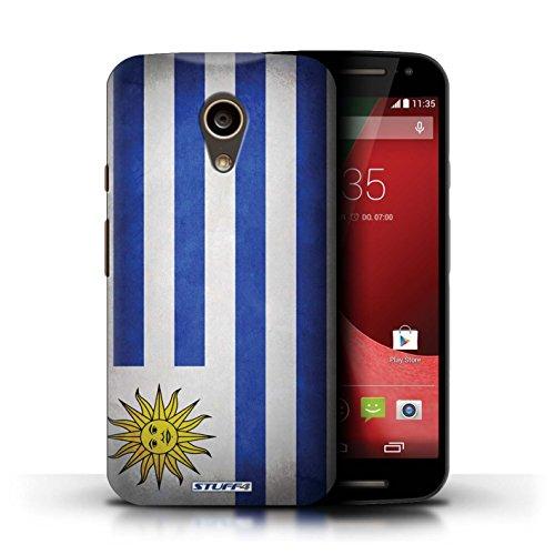 Kobalt® Imprimé Etui / Coque pour Motorola Moto G (2014) / Ghana conception / Série Drapeau Uruguay/Uruguayen
