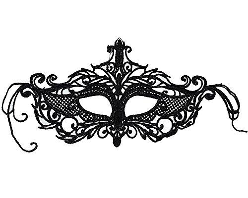 Schwarz Spitze Weinlese Retro Elegant Maske Damen Sexy Augenmaske Für Halloween Karneval Party Kostüm Ball Zusätze #15 One Size (Seine Und Ihre Halloween-kostüme Diy)