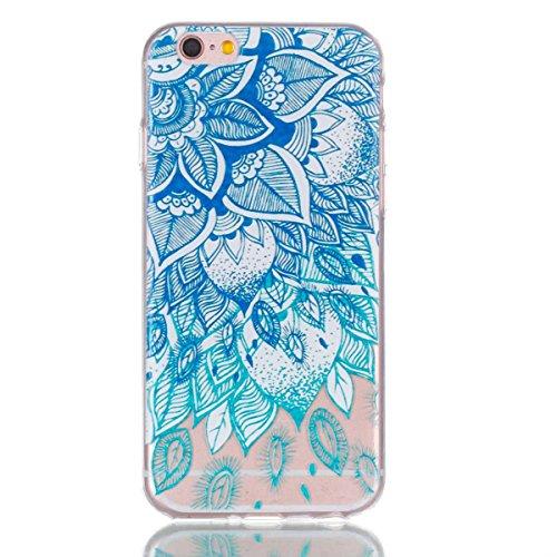iPhone 6 Plus Hülle,iPhone 6S Plus Schutzhülle, MSK Taschen Schalen Flexible TPU Weiche Rückwärtige Schutzhülle Case Für iPhone 6 Plus & iPhone 6S Plus - elegant #F elegant #I
