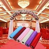Kyz Kuv 6colores boda de tul rollo fiesta descripción–Fuchsia