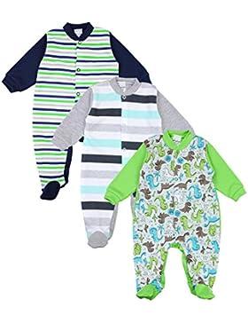 TupTam Unisex Baby Schlafstrampler Baumwolle 3er Pack