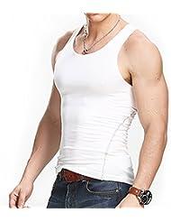 Chemise sans manches à compression Séchage rapide pour homme - IMAGE Débardeur Sèche rapide douce confortable - Sous-Vêtements masculins pour course cyclisme entraînement fitness