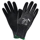 6 Paar FOURSCOM Arbeitshandschuhe Grip-Handschuhe Gr.7-12 EN388/4543 Größe 9