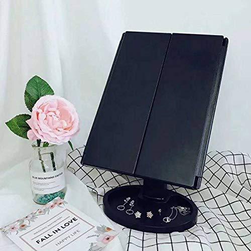 LBPLWY 7 Zoll Double Side Make-Up Spiegel Mit Led-Licht 1: 1 Badezimmer Klappspiegel Extension Arm Swivel Wandhalterung Kosmetikspiegel