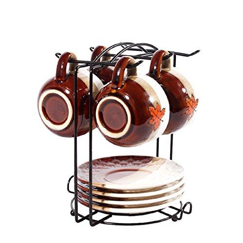 gossipboy Draht Ständer Rack für die Organisation 6Gerichten oder Untertasse & 6* Tassen oder Kaffee Becher, Espresso-Set Rack Tee-Set Display (Die Draht-kaffee-tasse)