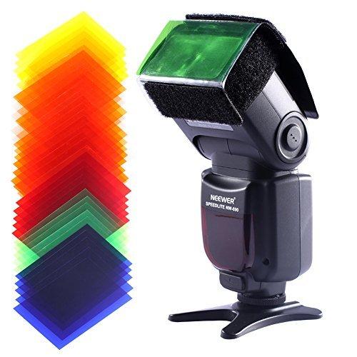 Neewer® Universal 35 Stück Farbfolien Blitz Gele farbige Beleuchtungs Gele Farbe Speedlite Farbfilter Set für Neewer Canon Nikon Sony Pentax Olympus Metz und alle Arten Blitzgeräte für Digitalkameras -