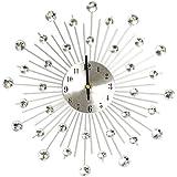 Creative Light- Reloj de pared de hierro creativo de gran tamaño Reloj de pared ultra silencioso Salón de decoración de sala de estar