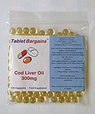 Tablet Bargains Cod Liver Oil 300mg 120 Capsules