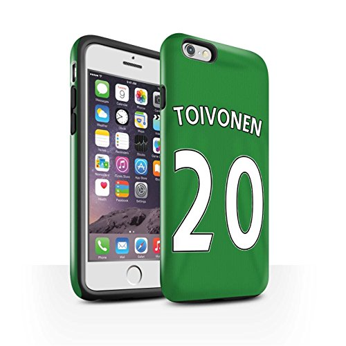 Offiziell Sunderland AFC Hülle / Glanz Harten Stoßfest Case für Apple iPhone 6S / M'Vila Muster / SAFC Trikot Away 15/16 Kollektion Toivonen