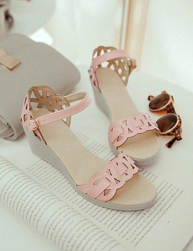 LFNLYX Chaussures Femme-Mariage / Bureau & Travail / Habillé / Décontracté / Soirée & Evénement-Rose / Blanc / Amande-Talon Plat-Compensées / almond