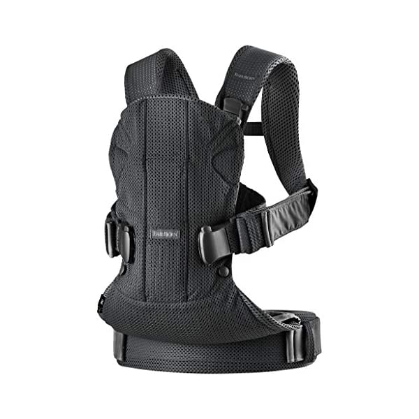 BABYBJÖRN Baby Carrier One Air, 3D Mesh, Black, 2018 Edition Baby Bjorn The latest version (2018) with soft and breathable mesh that dries quickly Ergonomic baby carrier with excellent support 4 carrying positions: facing in (two height positions), facing out or on your back 3