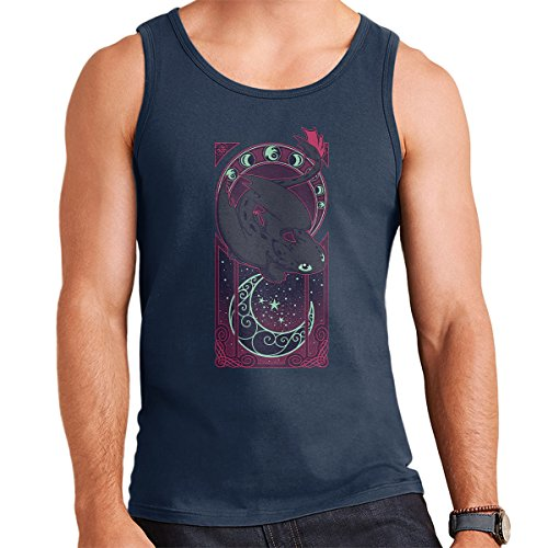 How To Train Your Dragon Toothless Art Of The Night Men's Vest Navy Blue