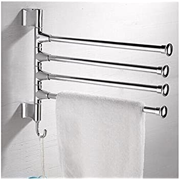 towel holder stand. HQdeal Wall Mounted Towel Rail 4 Tiers Rack Holder Stand With Hook 180 Rotation High