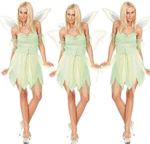 Nihiug Wings Green Dragonfly Elf Costume D'Halloween Rôle Play Angel Anime Sexy Uniforme Corpse Déesse Costume Réalité Big Legs,LightGreen