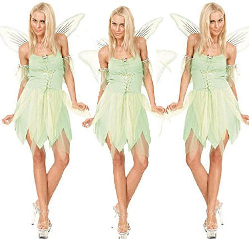 Nihiug Wings Green Dragonfly Elf Halloween Kostüm Rolle Spielen Angel Anime Sexy Uniform Corpse Göttin Kostüm Reality Big Beine,LightGreen