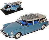 alles-meine.de GmbH Citroen ID19 Break Kombi Blau 1955-1968 1/18 Norev Modell Auto