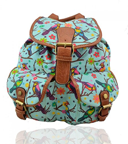 Craze London, Borsa a zainetto donna Parrot-Blue
