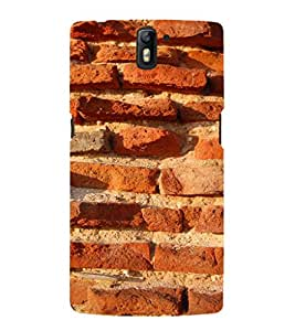 EPICCASE Red brick wall Mobile Back Case Cover For OnePlus One (Designer Case)