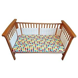 4-sided atmungsaktiv Kinderbett Stoßstange, doppelte Schichten, für die extra-padding von verflechtung 1877Spiel-Design, BS-, Airflow-3d-Mesh-Liner.