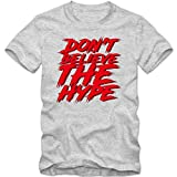 Public Enemy Fan T-Shirt Herren Don´t Belive The Hype Rebellion Hip Hop, Farbe:Graumeliert (Grey Melange L190);Größe:S