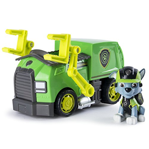 PAW PATROL 6037969 Paw Vehicle-Rocky de Mission Camion de Recyclage