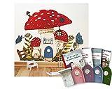 Großes Geschenk-Set mit lila Elfentür GLOW - Das Geheimnis der Wichteltür und Zubehör aus Holz