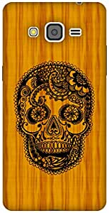 The Racoon Grip Woody Skull hard plastic printed back case / cover for Samsung Galaxy Grand Prime