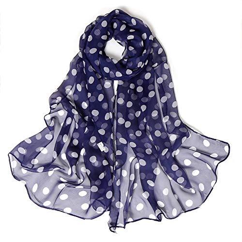 504f74dd0 Lenfesh Fulares seda Mujeres Bufanda seda con Estampado de Lunares Pañuelos  Fular Mujer Bufandas Estampado