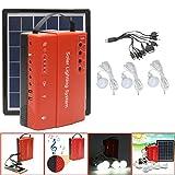 LaDicha 5W 9V Portable Solar Panel Stromspeicher Generator Led Light USB Ladegerät Outdoor Emergency System - Eu-Stecker