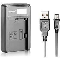 Neewer® USB Cargador de batería para la batería recargable LP-E6 para Canon EOS 5D Mark II III 5DS 6D 7D 60D 60Da 70D 7D Mark II III