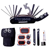 #7: BabyGo Bike Repair Tool Kits - 16 in 1 Multifunction Bicycle Mechanic Fix Tools Set Bag with Tire Patch Levers