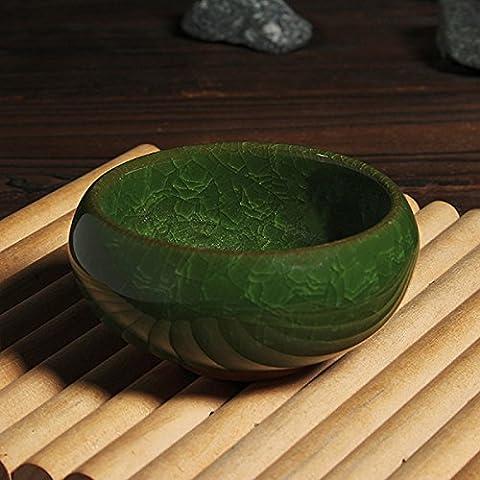 Aliciashouse 3 Farbe Kung Fu Tee Tasse Eis geknackt glasierte Keramik Tee Tasse - weiß