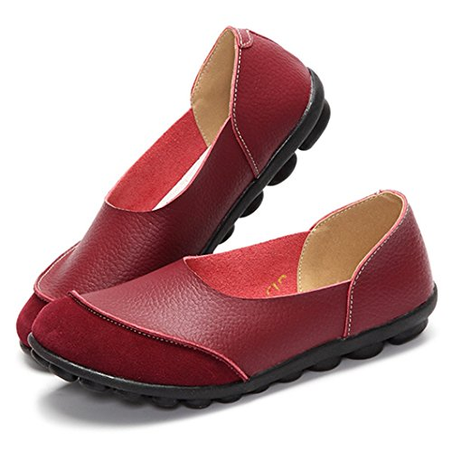 Hishoes - Low-top Donna rosso vivo
