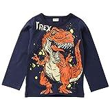 YanHoo Ropa para niños Camiseta Estampada con Letras de Dinosaurio y Mangas largas para niños de Children's Boy Conjuntos Otoño/Invierno Infantil Pijama Recien Nacido