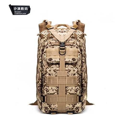 Uomini camuffamento outdoor alpinismo multifunzionale borsa doppia spalla zaino borsa 45*25*23cm,ACU camouflage Deserto Digital