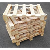 4 Stück Palette Einwegpalette Holzpalette Möbelpalette 60x80 cm kammergetrocknet IPPC Neu