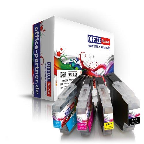 Preisvergleich Produktbild 10er multiPack kompatible Druckerpatronen zu Brother LC1220 LC1240 für Brother MFC-J280W / J425W / J430W / J435W / J5910DW / J625DW / J6510DW / J6710DW / J6910DW / J825DW / J835DW ; DCP-J525W / J725DW / J925DW