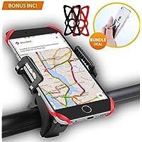 SONDERANGEBOT €8 1 TAG!! Handyhalterung Fahrrad Smartphone Handyhalter, Fahrrad Handy GPS Halter-Schwarz, Verstellbar für iPhone 7/ 7 Plus 6S/ 6S Plus 6/ 6Plus 5S Samsung Galaxy S5/ S4/ S3 usw. Schwarz