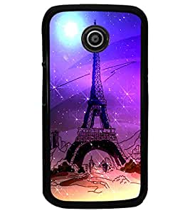 PrintDhaba Tower D-4893 Back Case Cover for MOTOROLA MOTO E (Multi-Coloured)