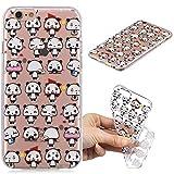 BONROY iPhone 6 / 6S (4,7 Zoll) Hülle, Gemalt Series Transparent Weiche Silikon Schutzhülle TPU Bumper Case für iPhone 6 / 6S (4,7 Zoll) - (HC-Mini Panda)