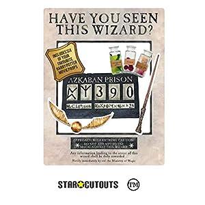 Star Cutouts-SC1475-Póster Oficial de Harry Potter Wanted como Marco de Selfie con Accesorios de The Prisoner of Azkaban (87 x 70 cm), Color Blanco, Multicolor (SC1475)