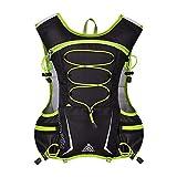 GemCoo 5L Hydration Pack Backpack Running Vest Outdoor Mochilas Trail Maratoneta da Corsa Gara di idratazione (Verde)