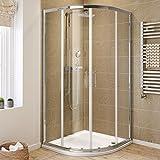 iBathUK 900 x 900 Quadrant 6mm Thick Sliding Glass Shower Enclosure Screen Cubicle Door