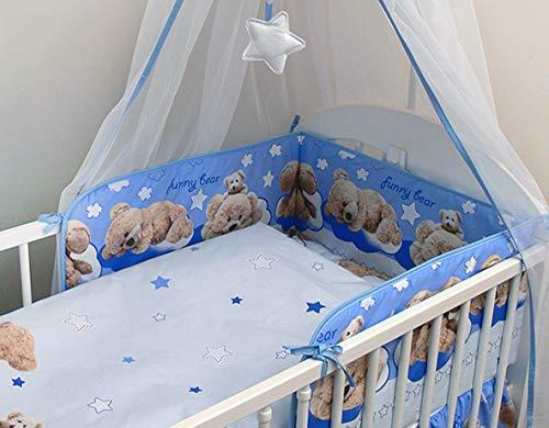 2 pièces couette et oreiller 120x90 cm pour lit bébé - modèle 18