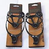 Penveat, supporto porta-borraccia in fibra di carbonio, accessorio per bicicletta, finitura opaca, con confezione, 2colori, 16g, 2 pezzi, unisex, 2PCS black, Taglia unica