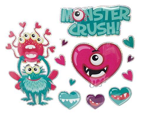 Valentine 's Day Deko 3D Popup-Fenster Dekorationen Monster Crush