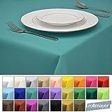 Rollmayer Tischdecke Tischtuch Tischläufer Tischwäsche Gastronomie Kollektion Vivid (Türkis 17, 100x100cm) Uni einfarbig pflegeleicht waschbar 40 Farben