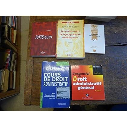 Lot de 5 livres de droit administratif et lexique de termes juridiques