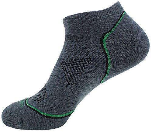 Langxi Herren Low Cut unsichtbar Sportive Sneaker Socken Baumwolle Rich Gr. Medium, Dunkelgrau -