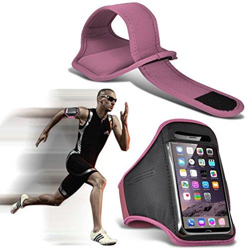 Fone-Case (Light Pink)ZTE Blade V7 Lite Einstellbare Sport-Armband Fall-Abdeckung für Laufen Jogging Radfahren Gym
